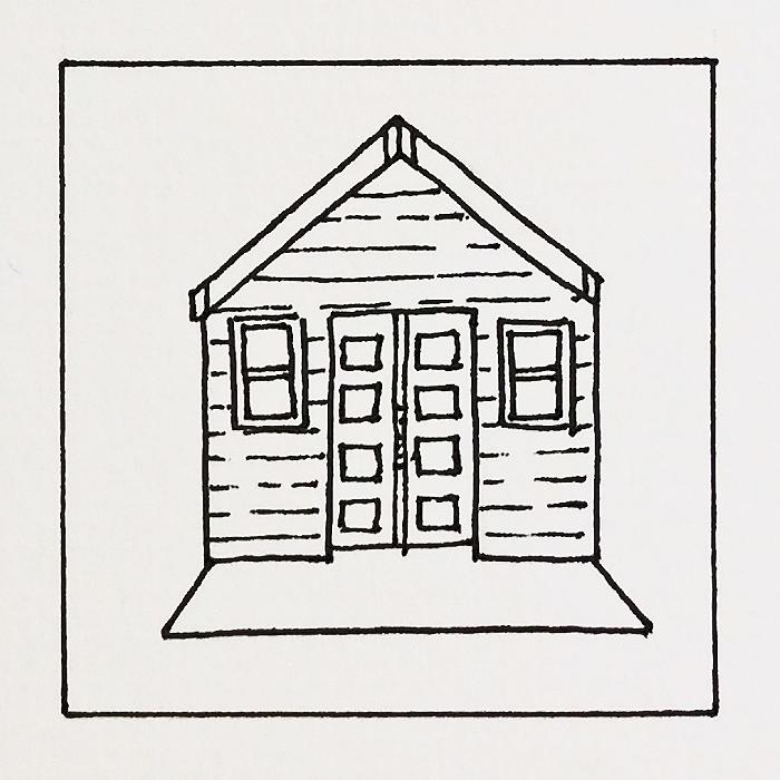 Hut coloring pages
